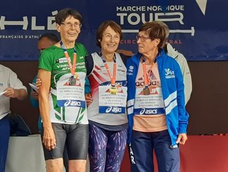 Monique Kopyto vice championne de France de marche nordique
